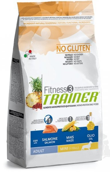 Trainer Fitness Adult Mini No Gluten Salmon Maize 7,5kg