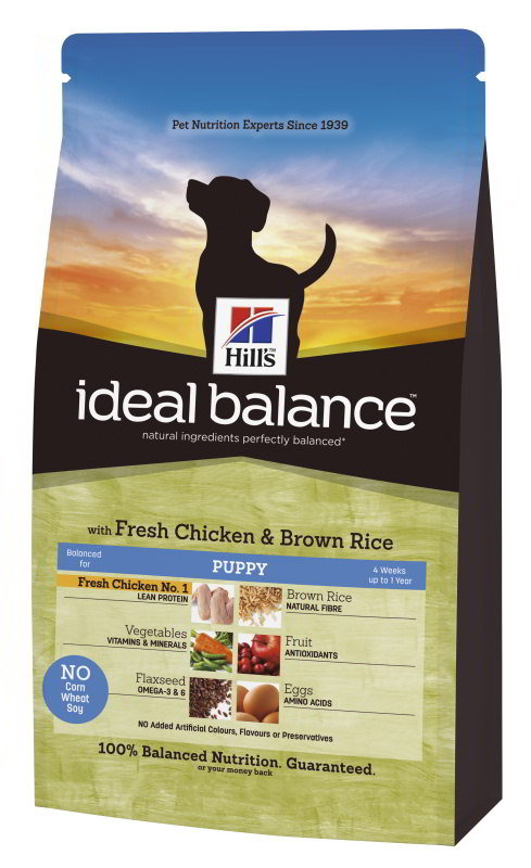 Hill's Canine Ideal Balance Puppy Chicken&Brown Rice 12kg