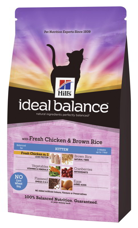 Hill's Feline Ideal Balance Kitten Chicken&Brown Rice 300g