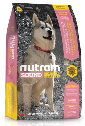 S9 Nutram Sound Adult Dog Lamb 13,6kg