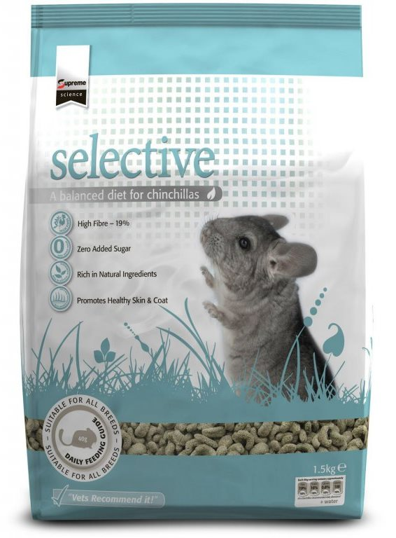 Supreme Science Selective Chinchilla - činčila 1,5kg