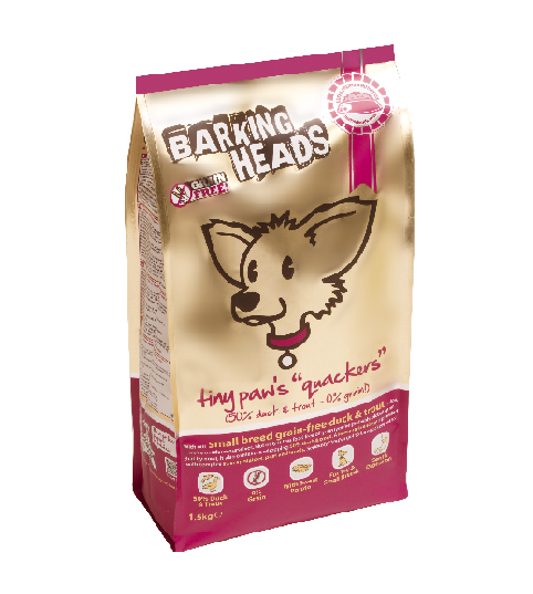 Barking Heads Tiny Paws Quackers Grain Free 12kg