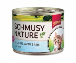 Schmusy Cat Nature Menu Junior losos+jehněčí 190g