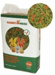 RabbbitWeed luční seno s mrkví 1kg / 40 l