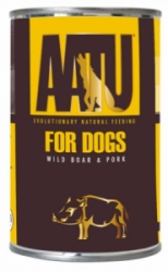 AATU Dog Wild Boar and Pork konzerva 400g
