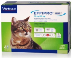 Effipro DUO Cat (1-6kg) 50/60 mg 4x0,5ml