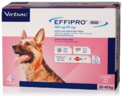 Effipro DUO Dog L (20-40kg) 268/80 mg 4x2,68ml