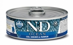 N&D CAT OCEAN Adult Codfish & Shrimps & Pumpkin 80g