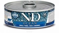 N&D CAT OCEAN Adult Small Tuna & Codfish & Shrimps 80g
