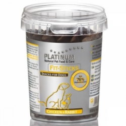 Platinum Natural FIT Sticks Chicken&Rabbit pamlsky 300g