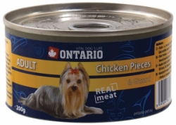 Ontario konzerva pes Chicken Pieces+Gizzard 200g