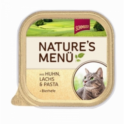 Schmusy Cat Nature Menu vanička kuře + losos 100g