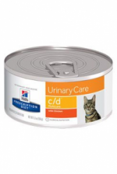 Hill's Feline C/D konzerva MultiCare Minced Chicken 156g