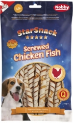 Nobby StarSnack Screwed Chicken Fish pamlsky 113g