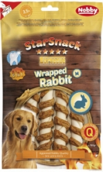 Nobby StarSnack Wrapped Rabbit M pamlsky 13cm 5ks 150g