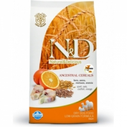 N&D Low Grain Dog Adult Mini Codfish&Orange 7kg