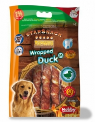 Nobby StarSnack Barbecue Wrapped Duck Medium tyčinky 13cm 140g