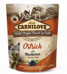 Carnilove Dog Pouch Paté Ostrich & Blackberries 300g