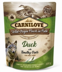 Carnilove Dog Pouch Paté Duck & Timothz Grass 300g