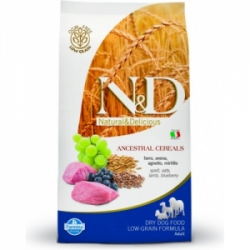 N&D Low Grain Dog Adult Mini Lamb&Blueberry 7kg
