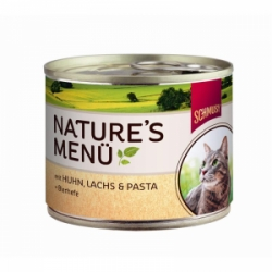 Schmusy cat Nature Menu kuře + losos 190g