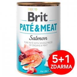 Brit Dog Paté & Meat Salmon konzerva 6x400g