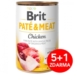 Brit Dog Paté & Meat Chicken konzerva 6x400g