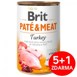 Brit Dog Paté & Meat Turkey konzerva 6x400g