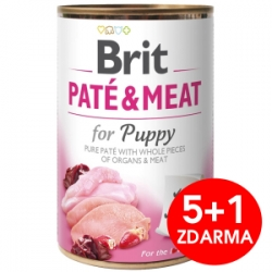 Brit Dog Paté & Meat Puppy konzerva 6x400g