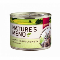 Schmusy cat Nature Menu zvěřina + tuňák 190g