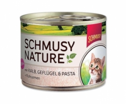 Schmusy Cat Nature Menu Junior telecí+drůbeží 190g