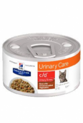 Hill's Feline C/D konzerva Stress Chicken stew 82g