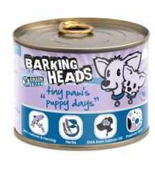BARKING HEADS Tiny Paws Puppy Days Salmon konz. 200g