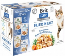 Brit Care Cat Fillets in Jelly Flavour box kapsičky 12x85g