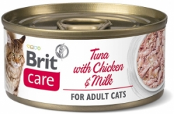 Brit Care Cat konzerva Fillets Chicken&Milk 70g