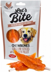 Brit Let's Bite Chewbones Calcium & Chicken Fillet 80g