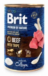 Brit Premium Dog by Nature konzerva Beef & Tripes 800g