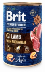 Brit Premium Dog by Nature konzerva Lamb & Buckwheat 400g