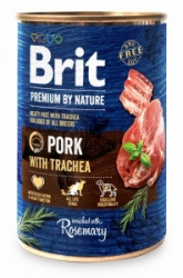 Brit Premium Dog by Nature konzerva Pork & Trachea 400g