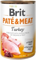Brit Dog Paté & Meat Turkey konzerva 800g