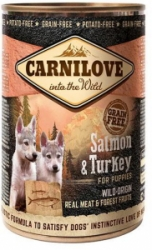 Carnilove Wild Meat Salmon & Turkey for Puppies konzerva 400g