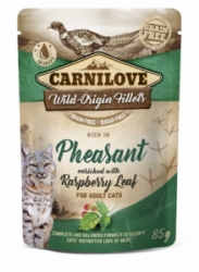 Carnilove Cat Pouch Pheasant & Raspberry Leaves 85g