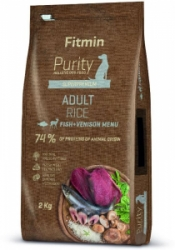 Fitmin dog Purity Rice Adult Fish & Venison 2kg