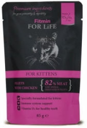 Fitmin cat For Life kapsička kitten chicken 85g