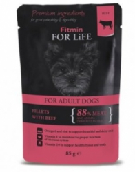 Fitmin Dog For Life kapsička Adult Beef in Gravy 85 g