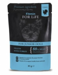 Fitmin Dog For Life kapsička Puppy Turkey in Gravy 85 g