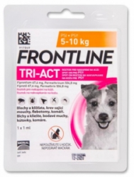 Frontline Tri-Act pro psy Spot-on S (5-10 kg)