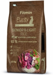 Fitmin dog Purity Rice Senior & Light Venison Lamb 12kg