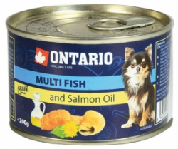 Ontario Mini Multi Fish and Salmon Oil konzerva pes 200g
