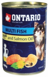 Ontario Mini Multi Fish and Salmon Oil konzerva pes 400g